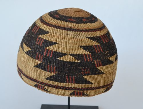 Hupa Area Hat with Red Circa 1920's or 30's Bew#776