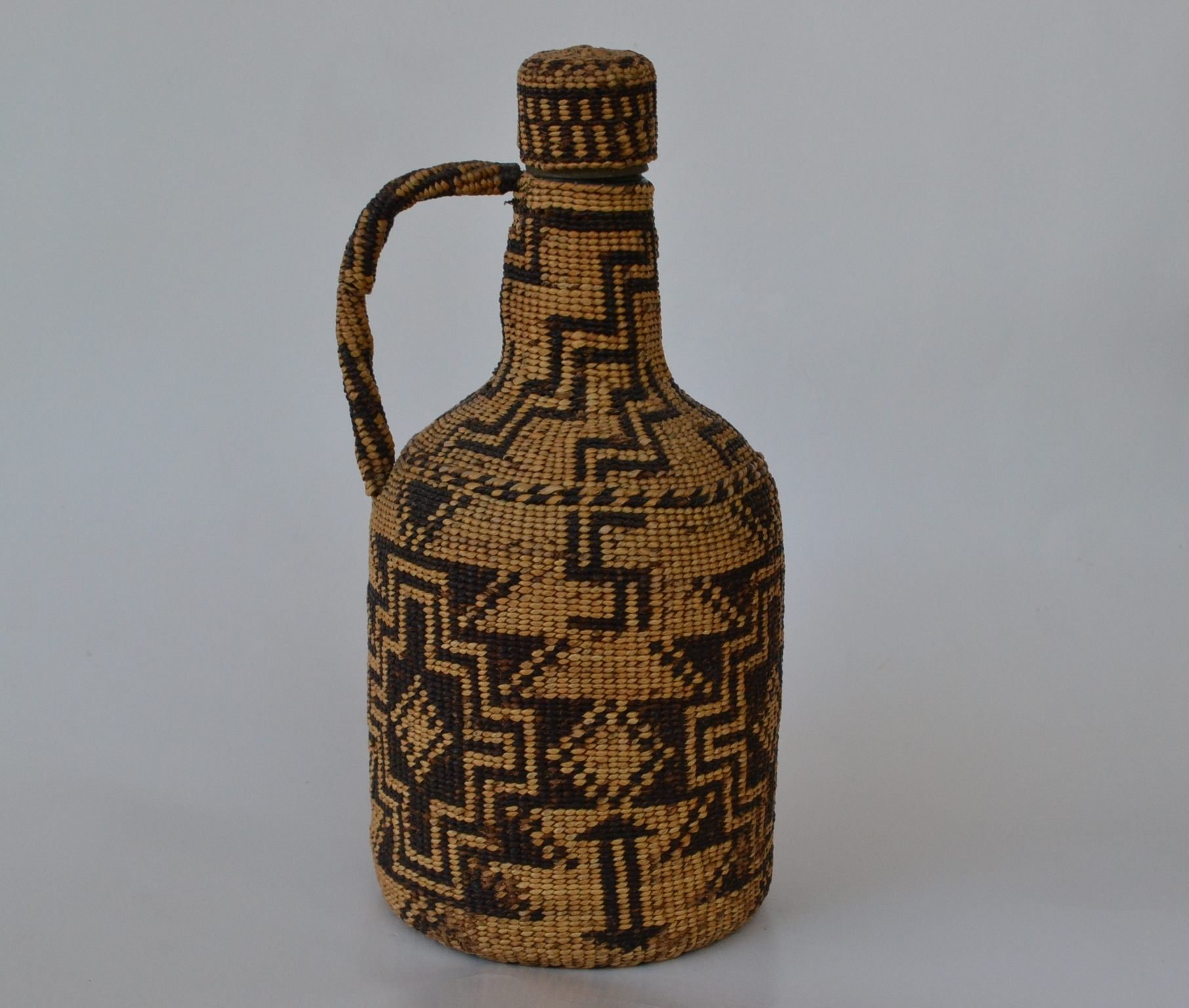 native american woven bottle indian baskets for sale