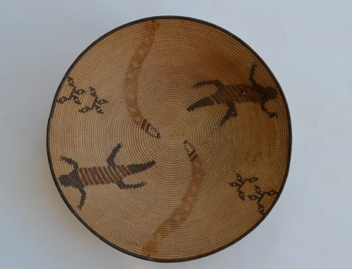 Chemehuevi basket with Snakes and Lizards Circa 1900-20's Bew#798