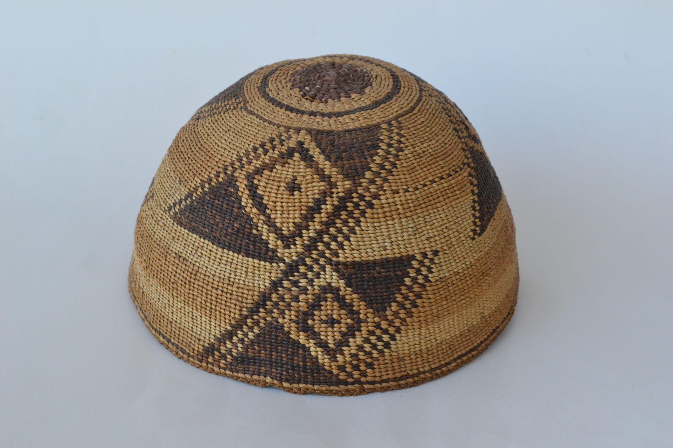 authentic indian woven hats klamath modoc woven basket hat