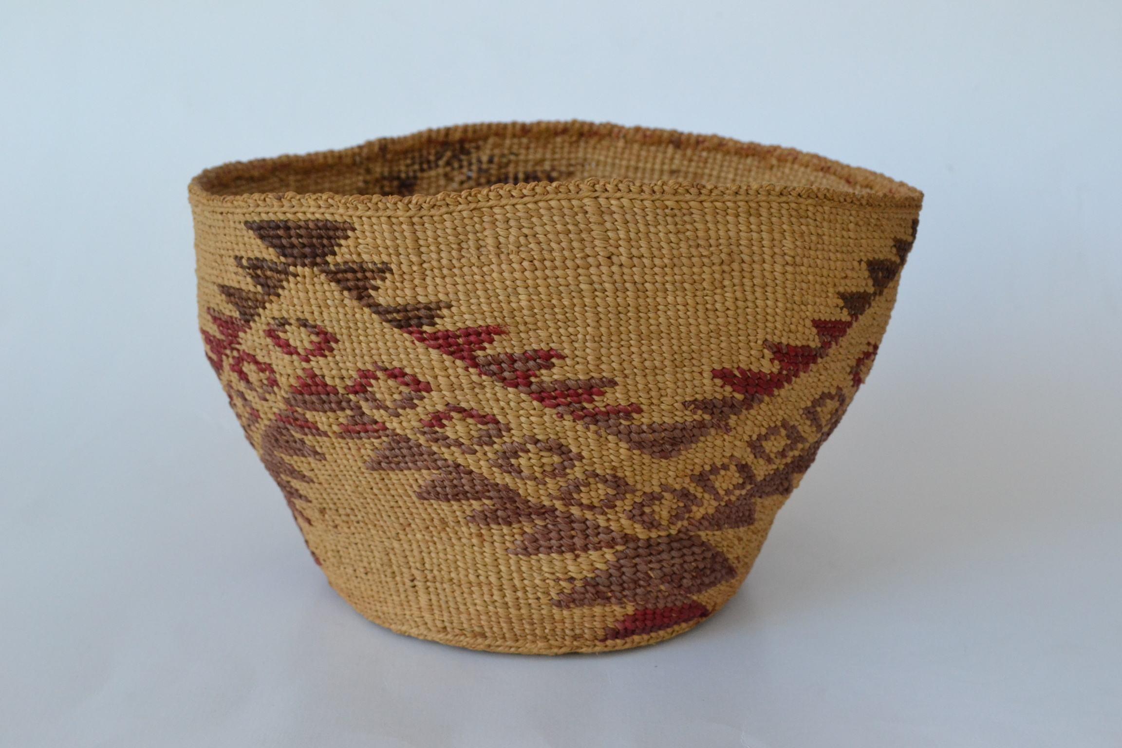 indian baskets for sale, penryn, california klamath modoc woven basket