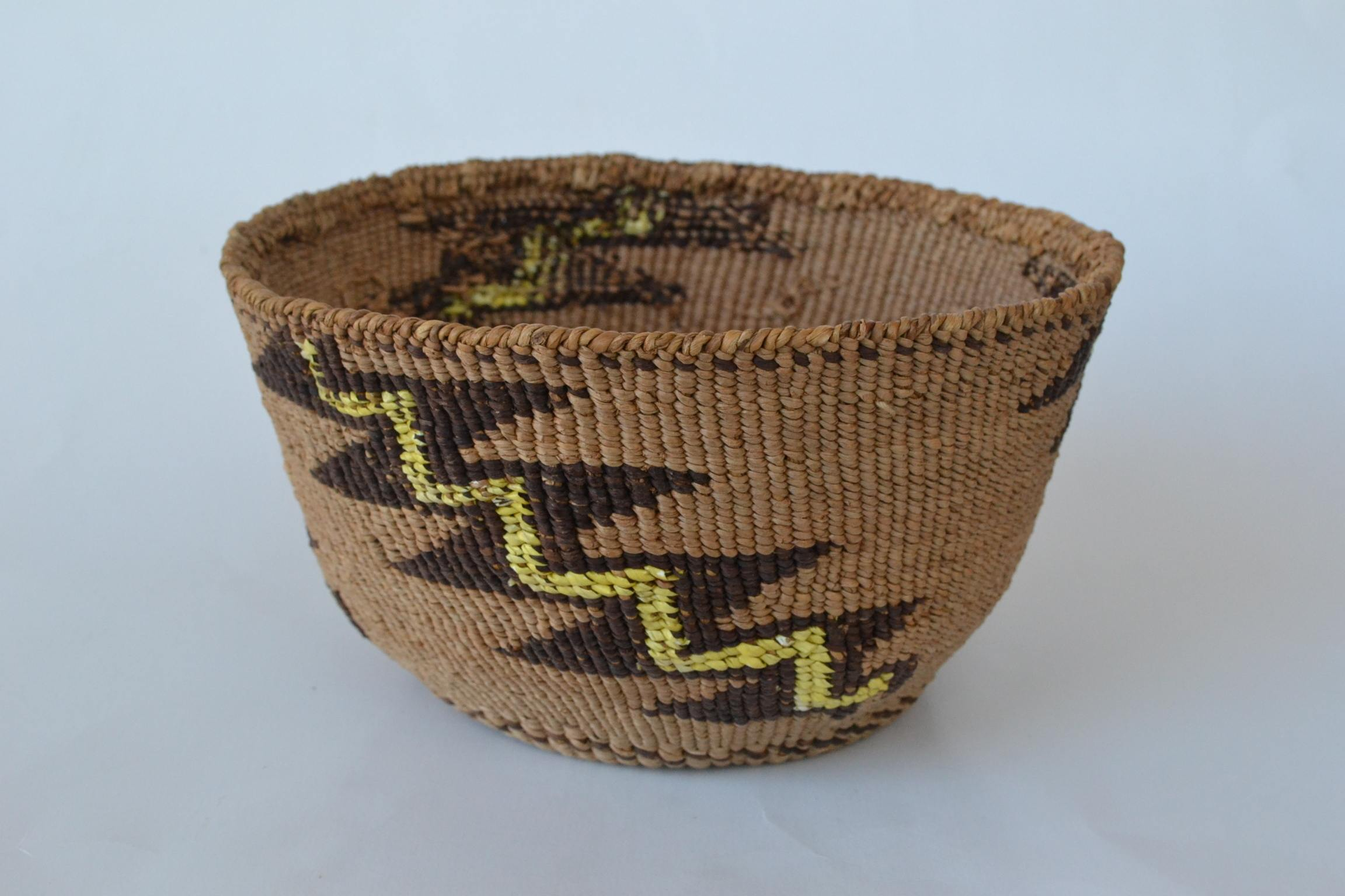 authentic antique indian baskets woven quill basket