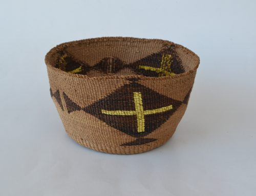 Klamath / Modoc Basket With Quill Work Circa 1900-20's Bew#830