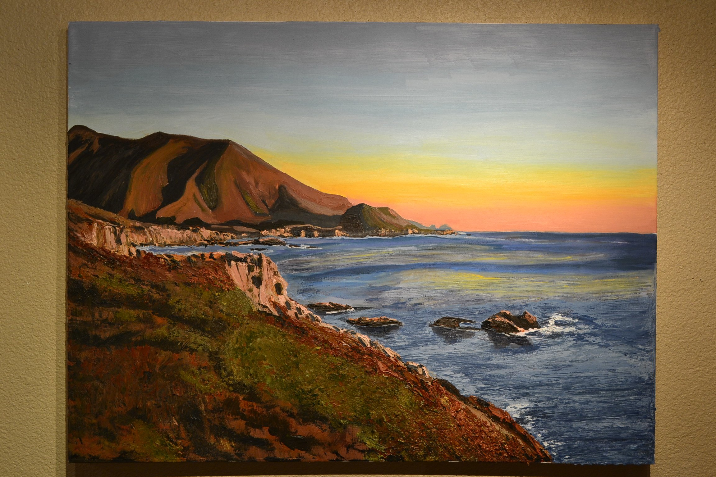california coastline oil painting for sale