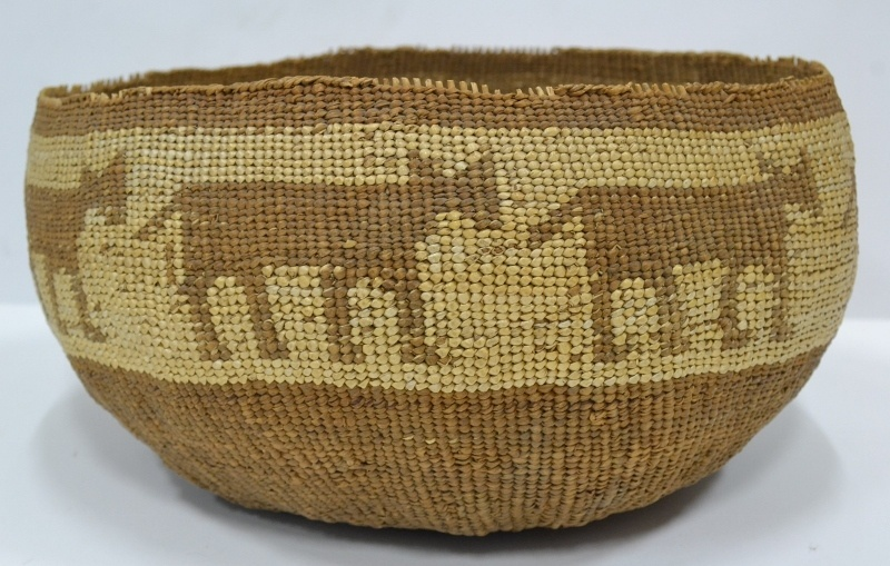 Orick California Basket Elephant Design Circa 1927 Bew#1006