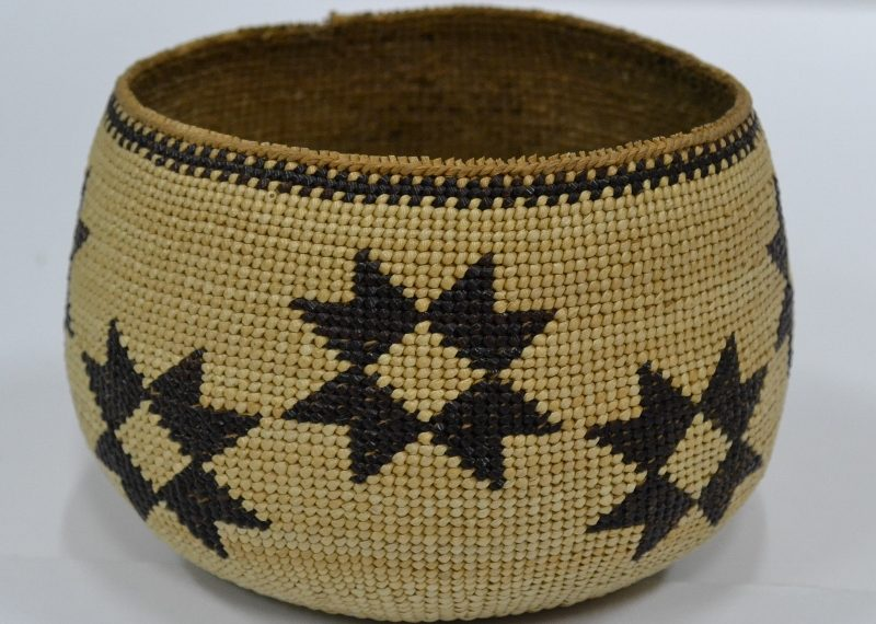 antique indian baskets hupa basket star design