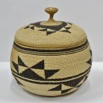 native american baskets, hupa area lidded baskets for sale