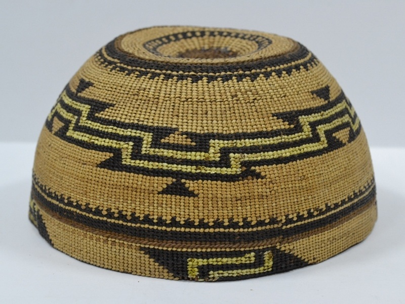 Hupa Area Hat with Quill Circa 1900 – 1920's Bew#751