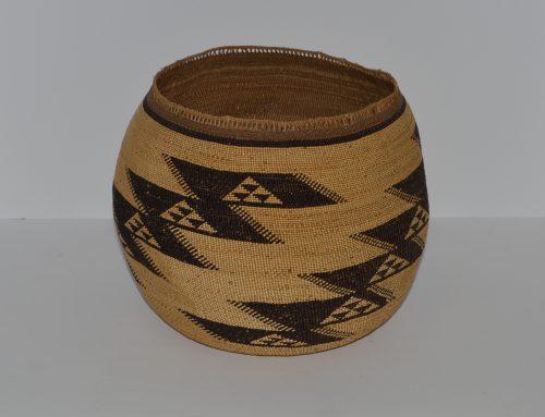Hupa Area woven basket circa 1900-1920 Bew#735