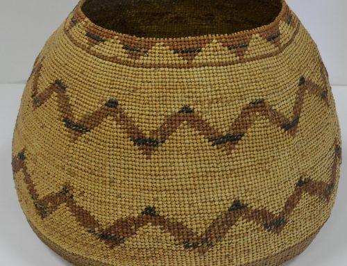 Hupa Area woven basket circa 1920's Bew#710