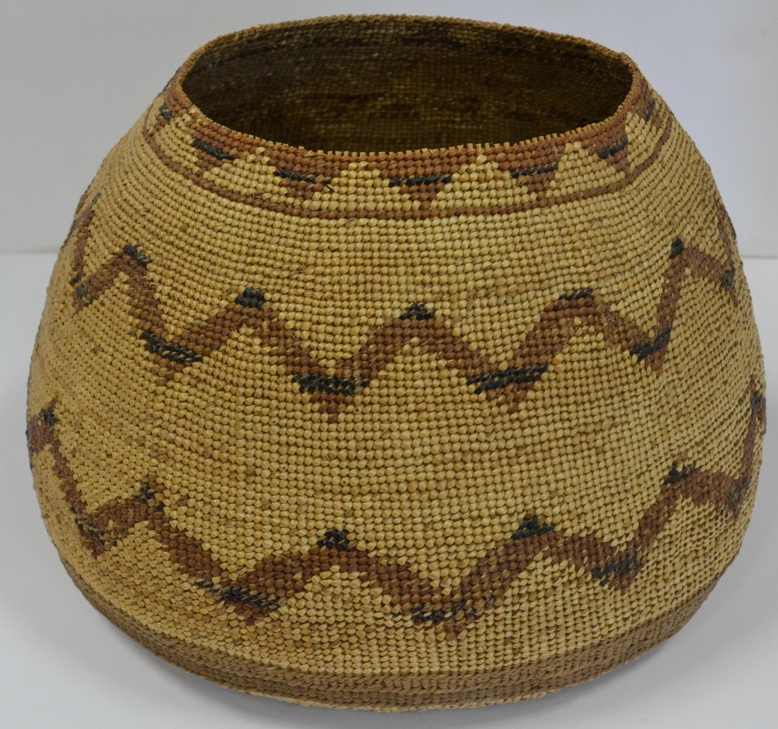 hupa area woven basket antique indian baskets