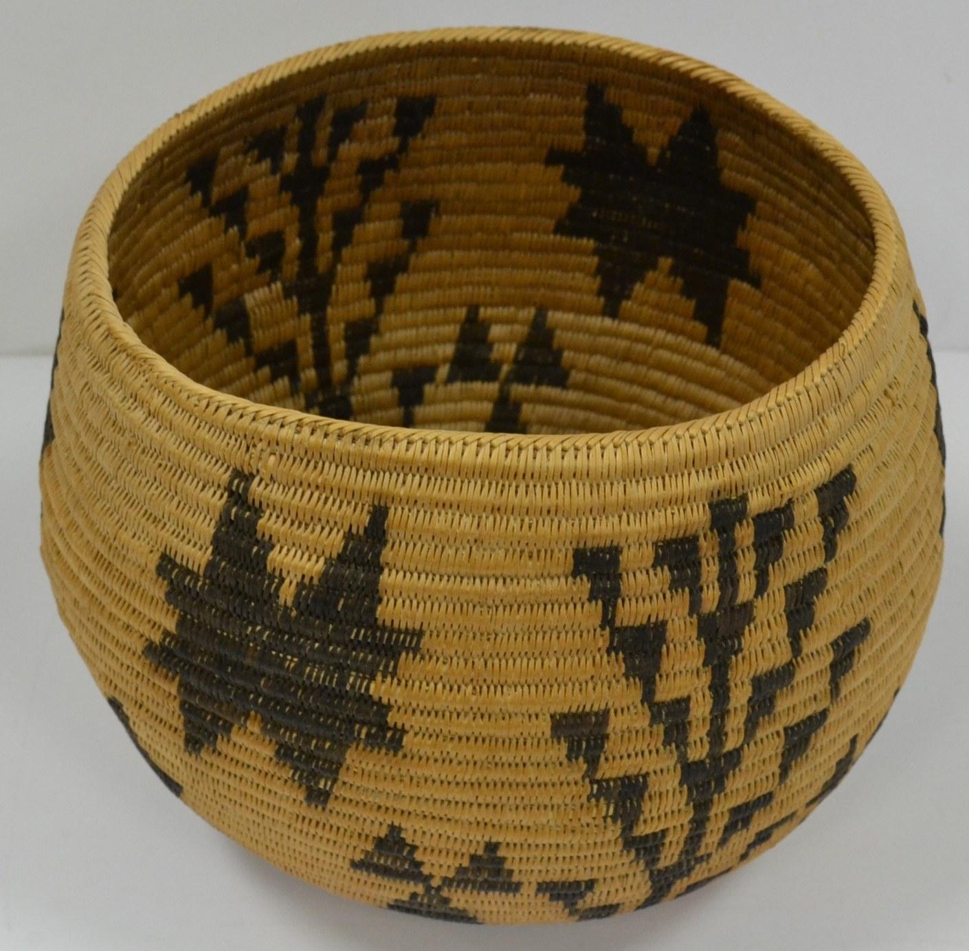 authentic antique indian baskets yosemite paiute woven basket