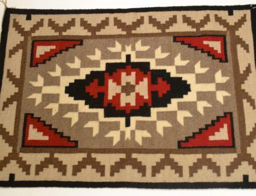 Navajo woven rug circa 1970's Bew#306