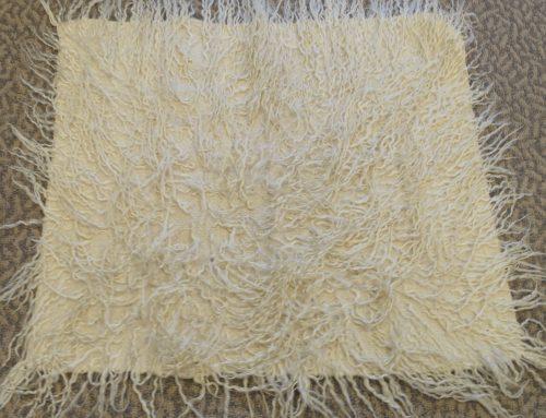 Navajo weavers seat rug circa 1970's Bew#744