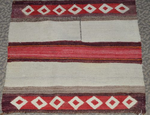 Navajo Poncho Saddle Blanket circa 1910 Bew#748