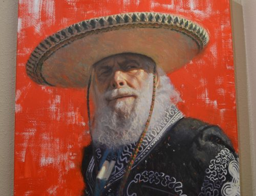 Original Frank Ordaz Canvas Painting-Mexican Male, Untitled Bew#846
