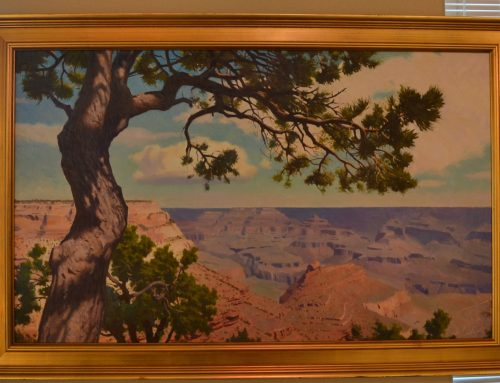 Framed and Signed Frank Ordaz Canyon Scenic Painting c. 2016 Bew#845