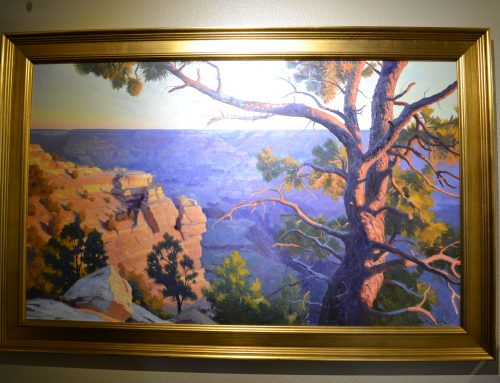 Framed and Signed Frank Ordaz Canyon Scenic Painting C. 2016 Bew#844