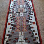 Native American Navajo woven rug circa 1920's