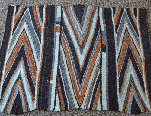 Native American Navajo Late Wedge Weave Rug Circa 1930-1960 Bew#849