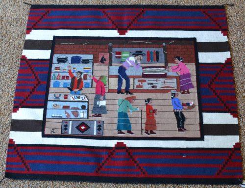 Native American Navajo Pictorial Rug Circa 2011 Bew#850