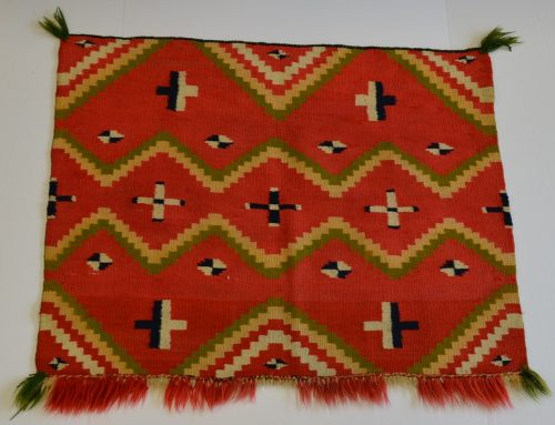 Rare Navajo Fancy Saddle or Baby Blanket Circa 1870 Bew#856