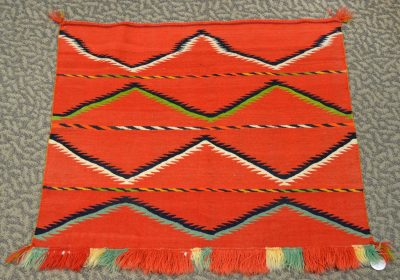 native american navajo fancy saddle woven blanket circa 1880's