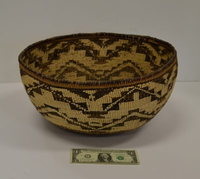 native american pit river/wintu area large woven basket