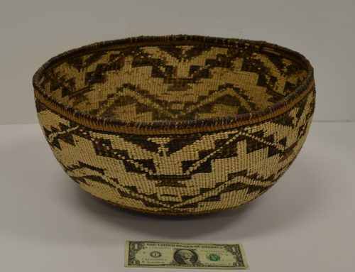 Very Rare Native American Pit River/Wintu Area Large Basket Bew#868
