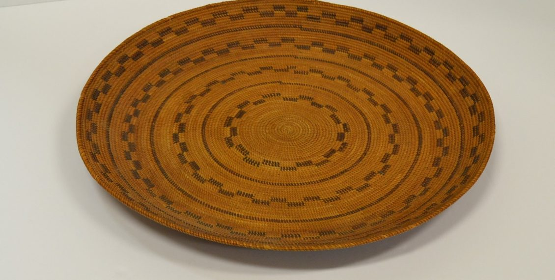 native american yokut gambling woven tray circa 1900