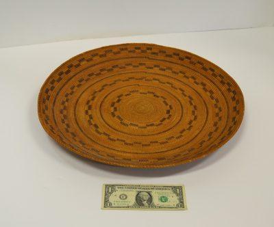 native american yokut gambling woven tray circa 1900