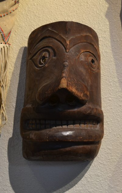native american northwest coast wood mask circa late 19th to early 20th century