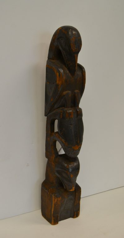native american pacific northwest coast wood carved totem pole circa late 19th century for sale in penryn, ca