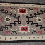 native american navajo jb moore storm pattern woven rug circa 1915