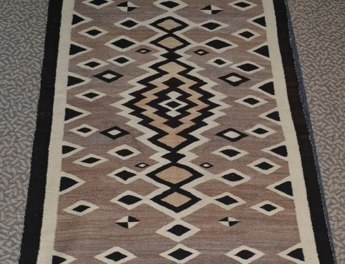 Native American Navajo Diamonds Rug Circa 1930's Bew#886