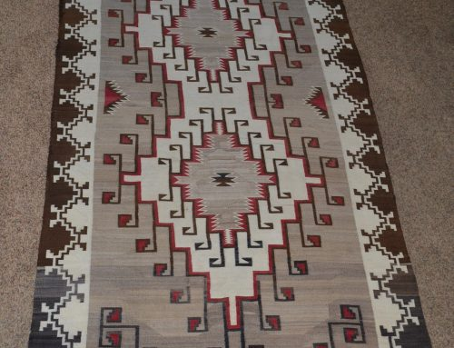 Native American Navajo Large Rug Circa 1920's to 1930's Bew#887