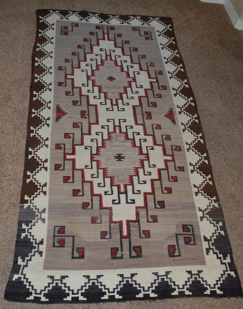 vintage native american navajo woven rug circa 1920's to 1930's for sale in Penryn, CA