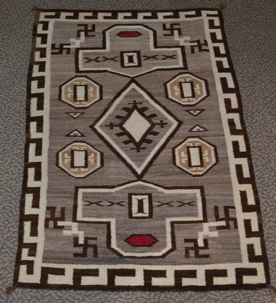native american navajo jb moore crystal trading post woven rug circa 1910-1920