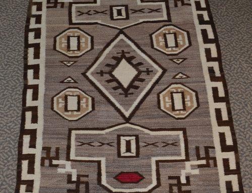 Native American Navajo J.B. Moore Crystal Rug Circa 1910-1920 Bew#892