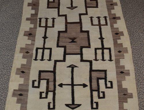 Native American Navajo J. B. Moore Plate Rug Circa 1900-1910 Bew#893
