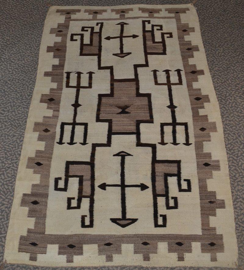 native american jb moore plate woven rug circa 1900-1910