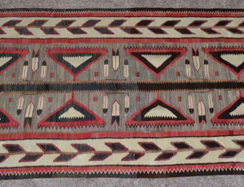 Native American Red Mesa Teec Nos Pos Rug Circa 1910-1920 Bew#897