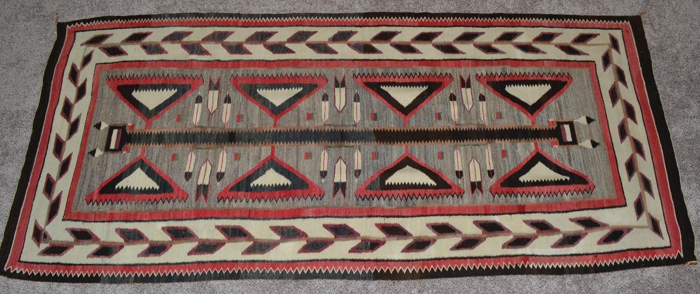 Native American Red Mesa Teec Nos Pos Rug Circa 1910 1920 Bew 897