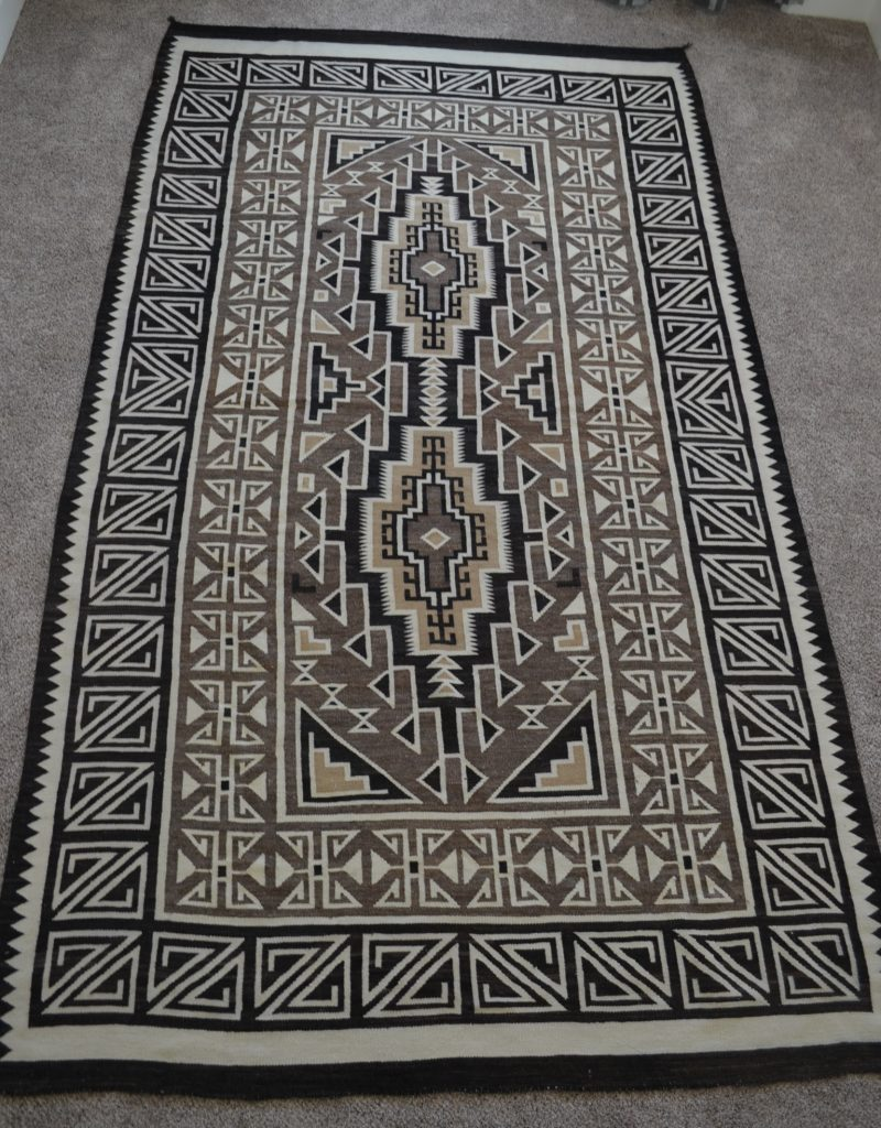 native american navajo two grey hills rug