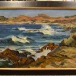 genuine paul dougherty untitled beach scene oil on canvas painting