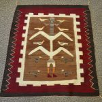 native american navajo pictorial rug with cornstalk yei