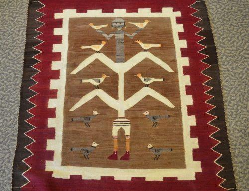 Native American Navajo Pictorial Cornstalk Yei Rug Circa 1920's Bew#901