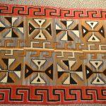 native american indian navajo red mesa large rug