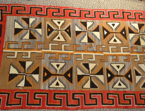 Native American Navajo Red Mesa Large Rug Circa 1910 Bew#903