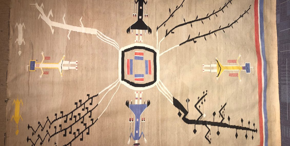 navajo native american rug indian sand painting